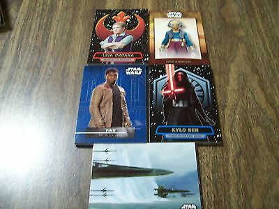 Topps Star Wars The Force Awakens Series 2 insert set 63 cards and stickers