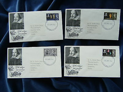 1964 William Shakespeare Illustrated First Day Covers Ordinary