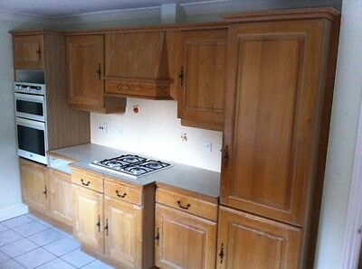 Kitchen cupboard doors - solid oak wood