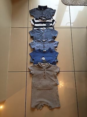 Bundle Of 6 Baby Boy Next Summer Rompers Age 12-18