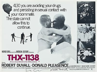 """THX 1138 16"""" x 12"""" Reproduction Movie Poster Photograph"""