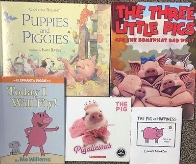 PIGS, Piggies Lot of 5 MIxed HC and SC Books, The Three pigs, Pigalicious