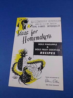 Ideas For Homemakers Recipe Flyer Dole Pineapple Fruit Cocktail Advertising