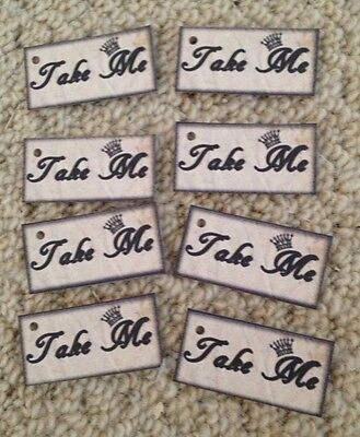10 Alice in wonderland Take Me tags  vintage Birthday tea party Decorations