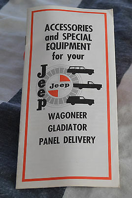 VTG 1966 Advertising Jeep Accessories Wagoneer Gladiator  Panel Delivery N