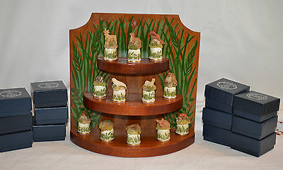 Joblot 1988 Sutherland Thimbles Animal Wildlife Set  With Boxes And Stand