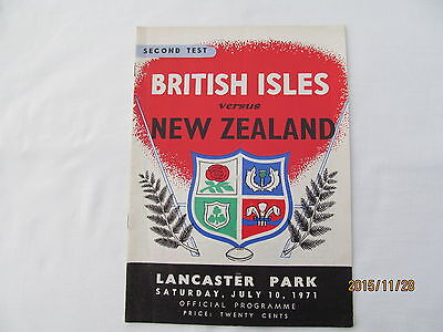 British Isles v New Zealand. Rugby Union. 2nd Test. 1971.Lancaster Park.