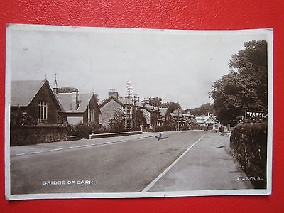 Postcard Of Bridge Of Earn,Perthshire -- Main St./Real Photograph/Postdated 1936