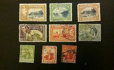Trinidad and Tobago 1913 - 1938 used stamps