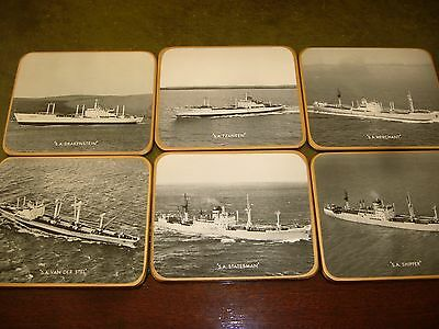 "1950/60's  "" Safmarine"" South African Shipping Line Advertising Coasters in Box"