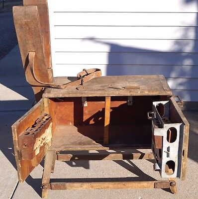 RARE 1910s WW1 Military Calvary US Army Saddlers Tool Chest For Battery Wagon