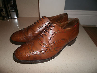 """Vtg Loake Inverness Tan Leather Wing-Back Brogues Size 6 EEE """"excellent"""""""