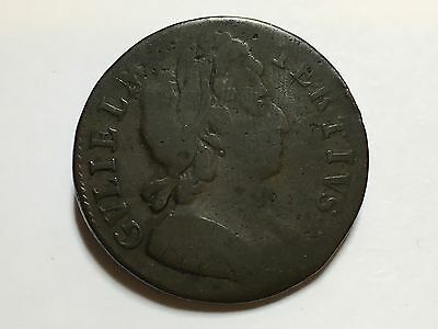 William III Half-Penny Date Note Visible