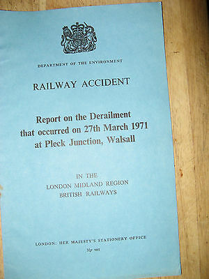 Railway Accident Report, Pleck Junction, Walsall  1971