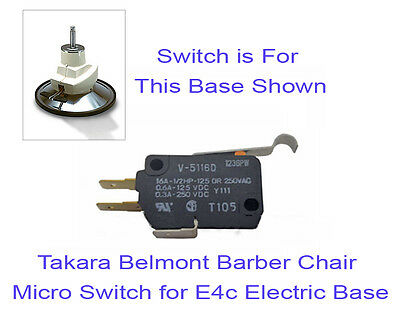 Takara Belmont Elegance BB225 Barber Chair Micro Switch for E4c Electric Base