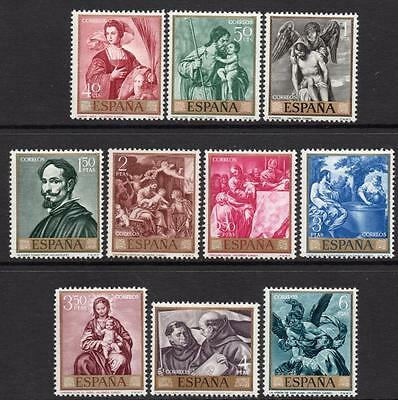 SPAIN MNH 1969 SG1968/77 Paintings by Alonso Cano - Stamp Day