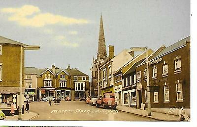Hinckley-The Market Place & The George Hotel Leicestershire