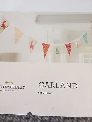 Threshold Bunny Garland 6Ft For Nursery Easter New In Box