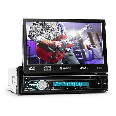 Auna Mvd-320 Car Bluetooth Stereo Dvd Cd Headunit Fm Am Clock Radio Sound System