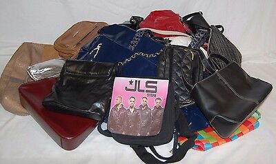 Job lot mixed used ladies handbags approx 6kg WH/R