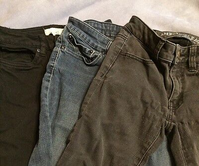 Lot of 3 Women's Jeggings American Eagle Levi's H&M