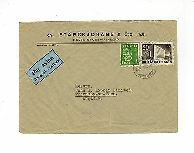 Finland 1948 Airmail Cover With Luftpost Label & Stamps With Helsingfors Cancel