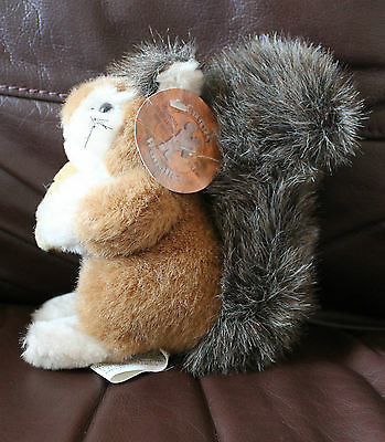 1989 Vintage Cuggly Wugglies Squirrel With Original Tags Collectable Rare