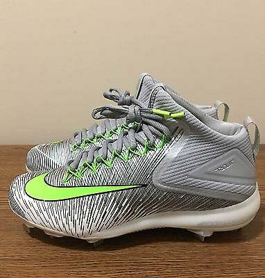 Nike Zoom Trout 3 ASG Baseball Metal Cleats Silver Green 844627-031 Men's Sz10.5