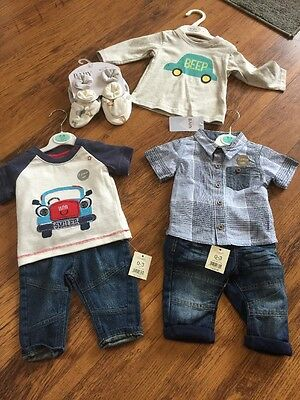 Bundle Baby Boy 0-3 Months George and M&S BNWT