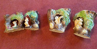 FOUR  Hornsea Pottery Fauna Vases. Nos 52, 55, 74 and 75