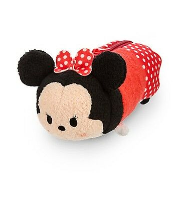 Disney Store MINNIE MOUSE red Tsum Tsum Plush Toy Pencil Case NWT great gift