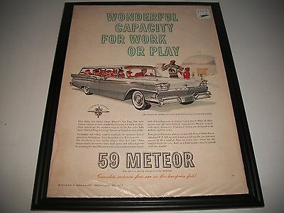 1959 Meteor Station Wagon Original Vintage Print Advertisement Art Collectible