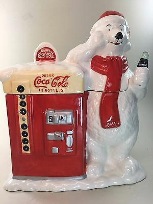 Coca Cola Polar Bear Coke Machine Cookie Jar officially licensed with Label