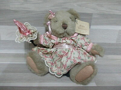 Collection Soft toy Bears from the past - Russ Berrie name Flora in nice dress