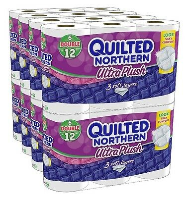 Toilet Paper Bath Tissue Quilted Northern Ultra Plush Soft Layer 48 Double Rolls