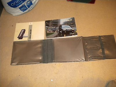 Volvo V70 Owners Manual + Service Directory in Leather wallet.