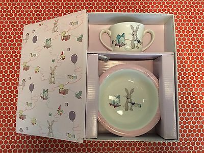 Belle And Boo Breakfast China Gift Set Cup And Bowl Set