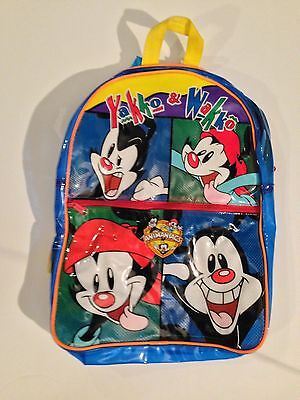 Vtg  Animaniacs Kids School Backpack Extremely Rare 1993 Dot Wacko Yakko Pinky