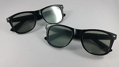 2 Pairs - Tinted Diffraction Glasses - Festival Party Dance Light Laser Show