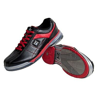 Mens TPU X Bowling Shoes with Interchangeable Soles/Heels Black/Red  Size 10