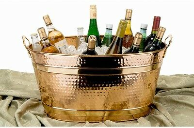 Oval Decor Copper Party Tub, 7.75 Gal Entertainment, Serve Iced Cold Beverages