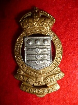 Royal Army Ordnance Corps Post WW2 KC Cap Badge, 1949-53, Buttons Maker