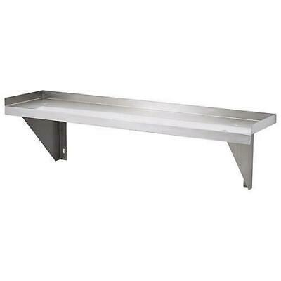 Wall Shelf, Solid Stainless Steel, 1200x300x300mm, Commercial Shelving / Shelves