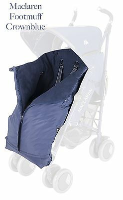 Maclaren Expandable Footmuff Crown Blue New in Pack rrp £120 discontinued colour