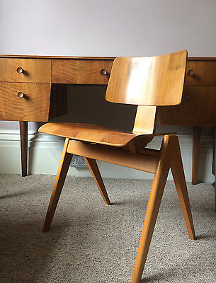 Mid Century Modern CHAIR Hillestak Robin Day Beech Plywood Hille UK Eames Ply