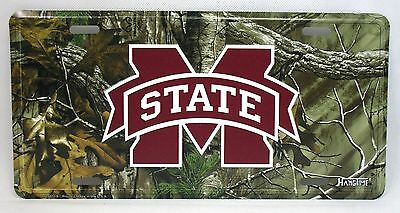Mississippi State Realtree Camo Car Truck Auto Tag License Plate NCAA Man Cave