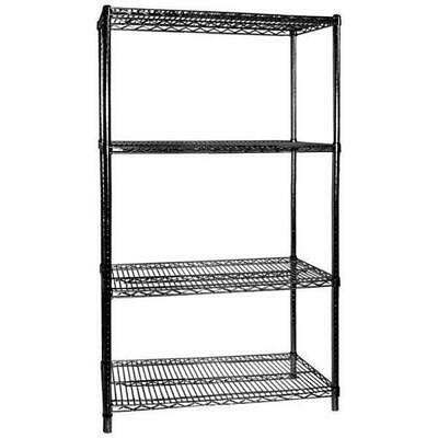 Shelving Kit, 4 Tier, Black, 1067x610x1880mm, Commercial / Storage Shelves