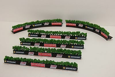 Ho Scale Slot Car Scenery / RACEWAY TREE LINE TIREWALL BARRIERS for AFX,TYCO etc