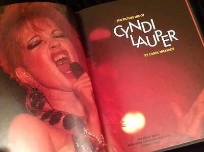 Vintage 1985 Picture Life Of CYNDI LAUPER Hardcover Book by Carol Nicklaus
