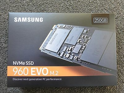 SAMSUNG 960 EVO M.2 250GB NVMe PCI-Express 3.0 x4 Internal Solid State Drive